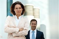 Confident businesswoman and businessman outdoors Stock Photo - Premium Rights-Managednull, Code: 853-06441682