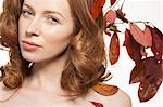 Woman with autumn leaves in her hair Stock Photo - Premium Royalty-Free, Artist: R. Ian Lloyd, Code: 614-06442371