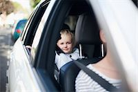 Boy in car Stock Photo - Premium Royalty-Freenull, Code: 614-06442529