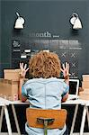 Frustrated woman working from home Stock Photo - Premium Royalty-Free, Artist: Ikon Images, Code: 614-06442592