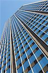 Low angle view of office building Stock Photo - Premium Royalty-Free, Artist: Ikon Images, Code: 614-06442803