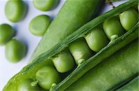 Close-up of freshly harvested peas in pod Stock Photo - Premium Royalty-Freenull, Code: 698-06443901