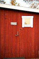 Signboard with text on wooden door Stock Photo - Premium Royalty-Freenull, Code: 698-06444269