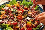 Fresh salad served in plate Stock Photo - Premium Royalty-Free, Artist: Jean-Christophe Riou, Code: 698-06444272
