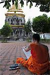 Buddhist monk painting, Chiang Mai, Thailand, Southeast Asia, Asia Stock Photo - Premium Rights-Managed, Artist: Robert Harding Images, Code: 841-06444816