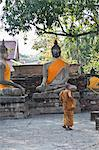 Young Buddhist monk, Ayutthaya, Thailand, Southeast Asia, Asia Stock Photo - Premium Rights-Managed, Artist: Robert Harding Images, Code: 841-06444822
