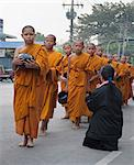 Young Buddhist monks collecting alms in the morning, Ayutthaya, Thailand, Southeast Asia, Asia Stock Photo - Premium Rights-Managed, Artist: Robert Harding Images, Code: 841-06444824