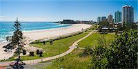 queensland - Coolangatta Beach and town panoramic, Gold Coast, Queensland, Australia, Pacifc Stock Photo - Premium Rights-Managednull, Code: 841-06444961