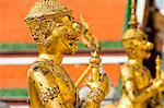 Gold guardian statue at the Grand Palace, Bangkok, Thailand, Southeast Asia, Asia Stock Photo - Premium Rights-Managed, Artist: Robert Harding Images, Code: 841-06444993