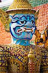 Colourful guardian statue close up, Grand Palace, Bangkok, Thailand, Southeast Asia, Asia Stock Photo - Premium Rights-Managed, Artist: Robert Harding Images, Code: 841-06444996