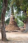Stupa at Wat Phra Si Sanphet in the Ancient Historical Park of Ayutthaya City, UNESCO World Heritage Site, Thailand, Southeast Asia, Asia Stock Photo - Premium Rights-Managed, Artist: Robert Harding Images, Code: 841-06445002