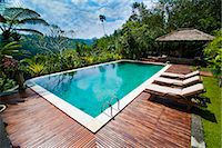 Swimming pool area at luxury accommodation near Ubud, Bali, Indonesia, Southeast Asia, Asia Stock Photo - Premium Rights-Managednull, Code: 841-06445023
