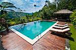 Swimming pool area at luxury accommodation near Ubud, Bali, Indonesia, Southeast Asia, Asia Stock Photo - Premium Rights-Managed, Artist: Robert Harding Images, Code: 841-06445023