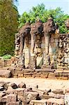 The Terrace of the Elephants, Angkor Thom, UNESCO World Heritage Site, Siem Reap, Cambodia, Indochina, Southeast Asia, Asia Stock Photo - Premium Rights-Managed, Artist: Robert Harding Images, Code: 841-06445046