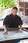 Woman making handmade paper in Luang Prabang, Laos, Indochina, Southeast Asia, Asia Stock Photo - Premium Rights-Managed, Artist: Robert Harding Images, Code: 841-06445130