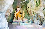 Large Buddha at Tham Sang Caves, Vang Vieng, Laos, Indochina, Southeast Asia, Asia Stock Photo - Premium Rights-Managed, Artist: Robert Harding Images, Code: 841-06445136