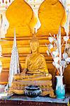 Bright gold Buddha statue at Pha That Luang, a Buddhist templ, Vientiane, Laos, Indochina, Southeast Asia, Asia Stock Photo - Premium Rights-Managed, Artist: Robert Harding Images, Code: 841-06445145