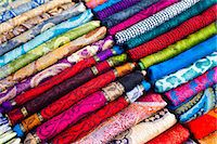 pattern (man made design) - Traditional silk scarves of Thailand at the night market at Chiang Mai, Thailand, Southeast Asia, Asia Stock Photo - Premium Rights-Managednull, Code: 841-06445175