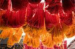 Brightly coloured wool hanging to dry in the dyers souk, Marrakech, Morocco, North Africa, Africa Stock Photo - Premium Rights-Managed, Artist: Robert Harding Images, Code: 841-06445526