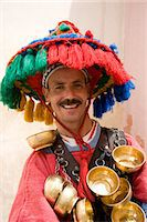 A water seller dressed in traditional Berber dress in Marrakech, Morocco, North Africa, Africa Stock Photo - Premium Rights-Managednull, Code: 841-06445535