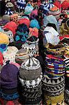 Brightly coloured knitted wool hats for sale in the souk in Marrakech, Morocco, North Africa, Africa Stock Photo - Premium Rights-Managed, Artist: Robert Harding Images, Code: 841-06445538
