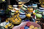 Colourful ceramic pots for sale in the souk in Marrakech, Morocco, North Africa, Africa Stock Photo - Premium Rights-Managed, Artist: Robert Harding Images, Code: 841-06445541