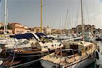 Yachts in the harbour below the citadel in the town of Calvi in the Haute-Balagne region of Corsica, France, Mediterranean, Europe Stock Photo - Premium Rights-Managed, Artist: Robert Harding Images, Code: 841-06445574