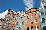 Colourful building facades on Long Market (Dlugi Targ), Gdansk, Pomerania, Poland, Europe Stock Photo - Premium Rights-Managed, Artist: Robert Harding Images, Code: 841-06445733