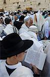 Traditional Cohen's Benediction at the Western Wall during the Passover Jewish festival, Jerusalem Old City, Israel, Middle East Stock Photo - Premium Rights-Managed, Artist: Robert Harding Images, Code: 841-06445877