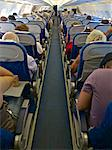 Airbus A320 plane inside cabin with passengers, France, Europe Stock Photo - Premium Rights-Managed, Artist: Robert Harding Images, Code: 841-06445931