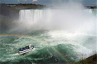 Maid of the Mist boat ride, at the base of Niagara Falls, Canadian side, Ontario, Canada, North America Stock Photo - Premium Rights-Managednull, Code: 841-06446075