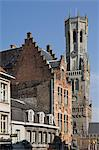The Belfry by the Market Place, Brugge, UNESCO World Heritage Site, Belgium, Europe Stock Photo - Premium Rights-Managed, Artist: Robert Harding Images, Code: 841-06446252