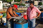 Fishermen at the old port, Salvador, Bahia, Brazil, South America Stock Photo - Premium Rights-Managed, Artist: Robert Harding Images, Code: 841-06446387