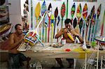Artist at a local workshop making wooden boats as souvenirs, Parati, Rio de Janeiro State, Brazil, South America Stock Photo - Premium Rights-Managed, Artist: Robert Harding Images, Code: 841-06446438