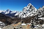 View of Ama Dablam and Chola Khola from Cho La Pass, Sagarmatha National Park, UNESCO World Heritage Site, Solukhumbu District, Sagarmatha, Eastern Region (Purwanchal), Nepal, Himalayas, Asia Stock Photo - Premium Rights-Managed, Artist: Robert Harding Images, Code: 841-06446620