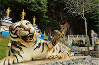 southeast asian - Tiger statue, Tiger Cave Temple (Wat Tham Suea), Krabi Province, Thailand, Southeast Asia, Asia Stock Photo - Premium Rights-Managednull, Code: 841-06446657