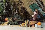 Buddha statue, Tiger Cave Temple (Wat Tham Suea), Krabi Province, Thailand, Southeast Asia, Asia Stock Photo - Premium Rights-Managed, Artist: Robert Harding Images, Code: 841-06446659