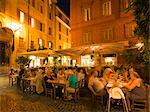 People dining at outside restaurant, Rome, Lazio, Italy, Europe Stock Photo - Premium Rights-Managed, Artist: Robert Harding Images, Code: 841-06447037