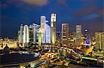 Skyline and Financial district at dusk, Singapore, Southeast Asia, Asia Stock Photo - Premium Rights-Managed, Artist: Robert Harding Images, Code: 841-06447220