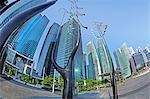 Skyscrapers of the Financial Centre and modern sculptures, Singapore, Southeast Asia, Asia Stock Photo - Premium Rights-Managed, Artist: Robert Harding Images, Code: 841-06447250