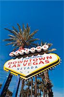 Welcome to downtown Las Vegas sign, Las Vegas, Nevada, United States of America, North America Stock Photo - Premium Rights-Managednull, Code: 841-06447382