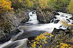 Autumn foliage surrounds the river Garbe Uisge at the Falls of Leny near Callander, Stirling, Scotland, United Kingdom, Europe Stock Photo - Premium Rights-Managed, Artist: Robert Harding Images, Code: 841-06447499
