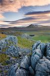 Snow capped Ingleborough from the limestone pavements on Twistleton Scar, Yorkshire Dales National Park, North Yorkshire, England, United Kingdom, Europe Stock Photo - Premium Rights-Managed, Artist: Robert Harding Images, Code: 841-06447520