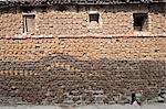 Village house with stone brick walls covered completely with hand shaped dung pats left there to dry in the sun, Sonepur, Bihar, India, Asia Stock Photo - Premium Rights-Managed, Artist: Robert Harding Images, Code: 841-06447661