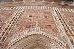 Carved terracotta work above arched doorway in the Lalji Mandir, one of the terracotta temples at Kalna, West Bengal, India, Asia Stock Photo - Premium Rights-Managed, Artist: SuperStock, Code: 841-06447717