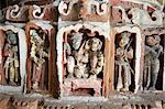 Detail of the carved and painted terracotta work in the Lalji Mandir, one of the terracotta temples at Kalna, West Bengal, India, Asia Stock Photo - Premium Rights-Managed, Artist: Robert Harding Images, Code: 841-06447718
