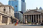 The Bank of England and Royal Exchange, Threadneedle Street, City of London, London, England, United Kingdom, Europe Stock Photo - Premium Rights-Managed, Artist: Robert Harding Images, Code: 841-06447985