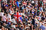 Crowd of British spectators with Union flags in a sports arena, London, England, United Kingdom, Europe Stock Photo - Premium Rights-Managed, Artist: Robert Harding Images, Code: 841-06447994