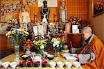 Buddhist ceremony at Ancestors' altar, Tu An Buddhist temple, Saint-Pierre-en-Faucigny, Haute Savoie, France, Europe Stock Photo - Premium Rights-Managed, Artist: Robert Harding Images, Code: 841-06448096