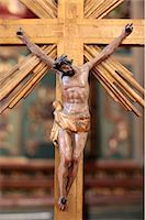 religious cross nobody - Crucifix in a church, Paris, France, Europe Stock Photo - Premium Rights-Managednull, Code: 841-06448106